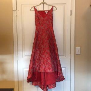 Badgley Mischka high low gown